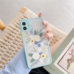 Cute Blue Flower Floral iPhone cases